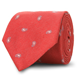 The Red Hensley Paisley Tie