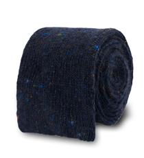 The Navy Karlin Flecked Knit Tie