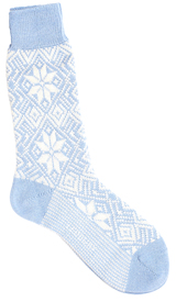 The Light Blue Driscoll Snowflake Sock