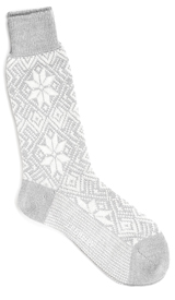 The Light Grey Driscoll Snowflake Sock