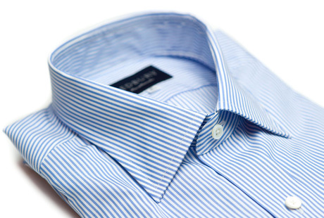 The Light Blue Bengal Slim Fit collar