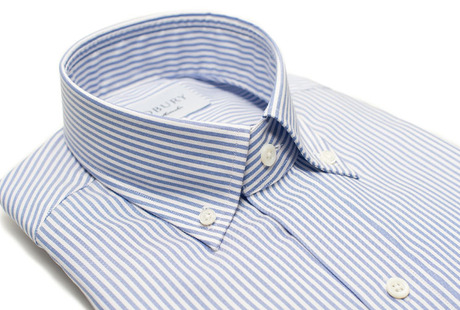 The Blue Bengal Oxford Slim Fit collar