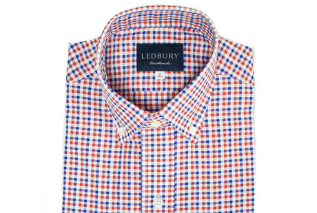 The Red and Blue Marshall Chambray Slim Fit shirt