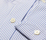 The Blue Box Check Button Down Slim Fit singlecuff