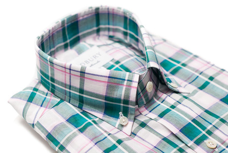 The Green Crawford Plaid Slim collar