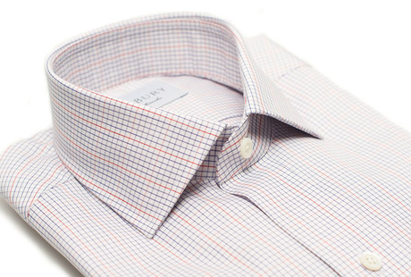 The Blue and Red Lincoln Check Slim Fit collar