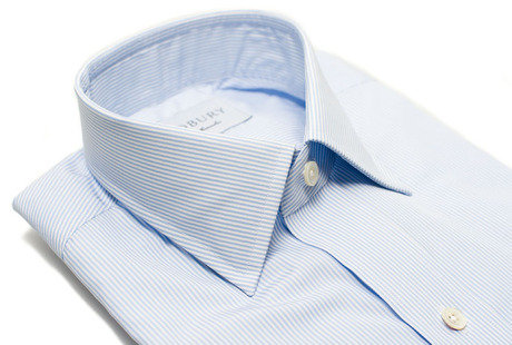 The Blue Thin Stripe 120 Slim Fit collar