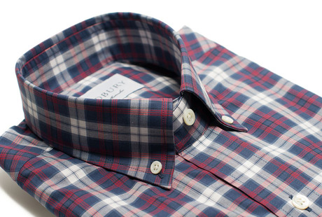 The Allen Plaid Slim Fit collar