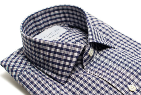 The Navy Fitzgerald Slim Fit collar