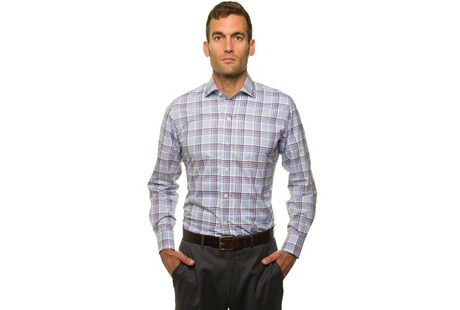 The Warsaw Plaid Slim Fit modelcrop