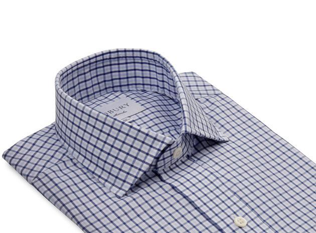 The Blue Townsend Tattersall  collar