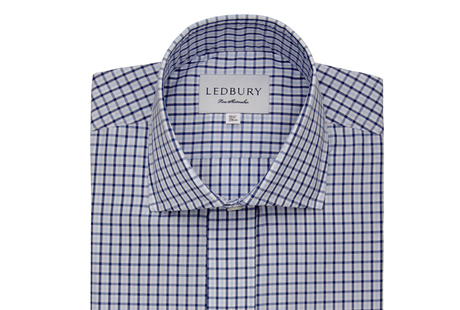 The Blue Townsend Tattersall  shirt