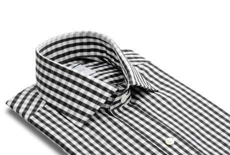 The Black Parker Gingham collar