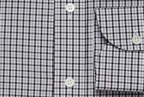 The Black and Grey Townsend Tattersall singlecuff