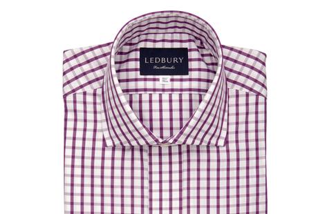 The Purple Urbana Box Check shirt
