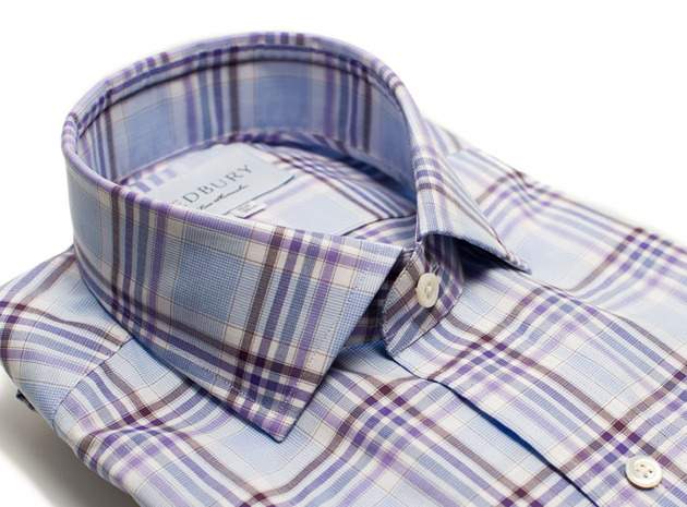 The Warsaw Plaid collar