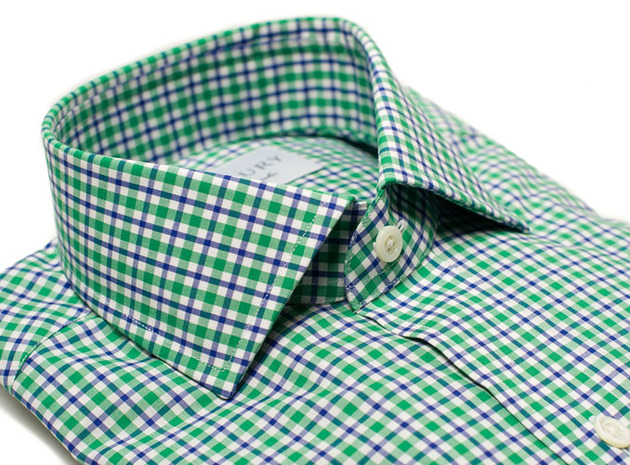 The Blue and Green Thompson Tattersall collar