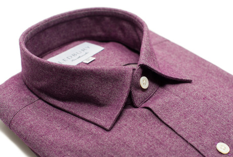 The Plum Callan Slim Fit collar