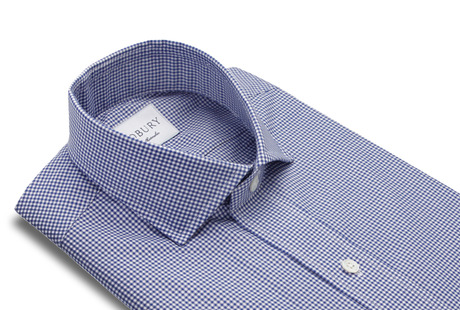 The Navy Cross Gingham Slim Fit collar
