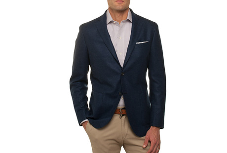 The Loro Piana Sport Coat Slim Fit collar