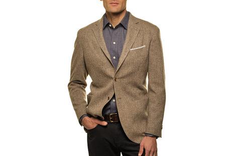 The Brown Huxley Sport Coat Slim Fit collar