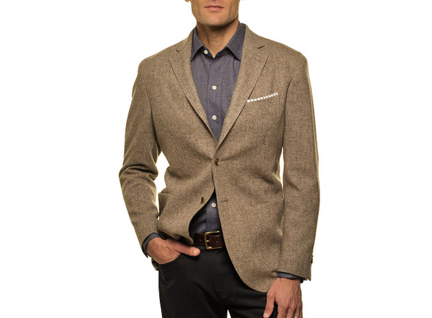 The Brown Huxley Sport Coat collar