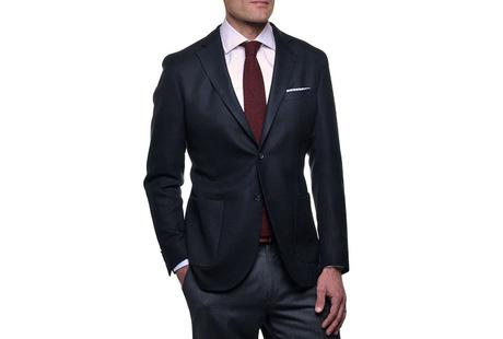 The Blue Paton Blazer collar