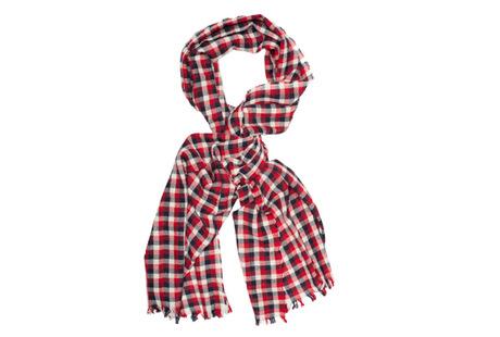 The Toran Gingham Cashmere Scarf collar