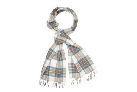 The Stewart Tartan Lambswool Scarf collar