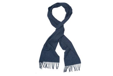 The Blue Camden Lambswool Scarf collar