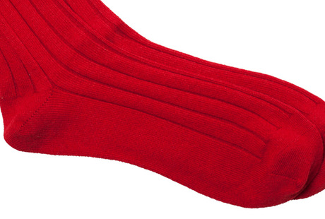 The Red Alastair Sock singlecuff