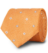 The Orange Lennox Basketweave Tie