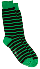 The Green Ainsley Stripe Sock