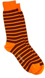 The Orange Ainsley Stripe Sock