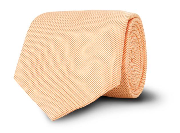 Orange Pierce Pindot Tie