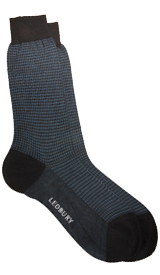 The Navy Houndstooth Sock