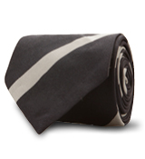 The Navy and Grey Gibson Stripe Tie